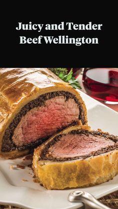 Healthy Meat Recipes, Roast Beef Recipes, Cooking Recipes, Burger Recipes, Crockpot Recipes, Beef Wellington Recipe, Wellington Food, Easy Beef Wellington, Good Food