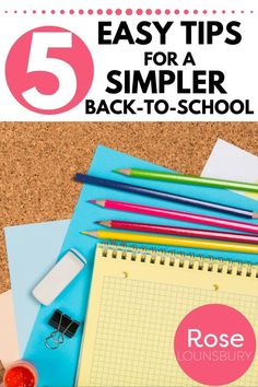 Simplify your back-to-school season with these 5 easy mom hacks and organization tips that will get your school year started right! Kids Bedroom Organization, Budget Organization, Organizing, Stress Relief Essential Oils, Essential Oils For Babies, Motherhood Funny, Quotes About Motherhood, Teacher Survey, Minimalist Parenting