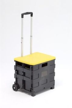 Foldable cart/trolley with lid seat