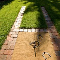 we are doing this! backyard with horseshoe pit   Backyard Horseshoes