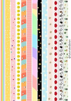 Printable Planner Stickers, Journal Stickers, Scrapbook Stickers, Printable Paper, Free Printable, Kawaii Stickers, Cute Stickers, Week Planer, Washi Tape Planner