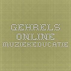 Gehrels online - muziekeducatie
