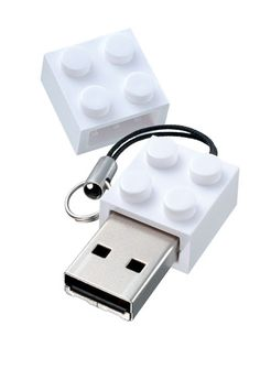 White Lego USB Flash Drive- 1GB by Sarut Group - Spark Living - online boutique for unique home decor, gifts and accessories $26.00