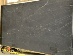 Global Granite & Marble Brazilian Black Honed Soapstone slab Soapstone, Travertine, Natural Stones, Marble, Kitchen, Black, Cooking, Black People, Cucina