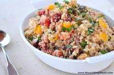 The Whole Life Nutrition Kitchen: Heirloom Tomato Basil Quinoa Salad