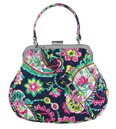 Vera Bradley Mini Frame Crossbody in Petal Paisley  VeraBradley   MiniFrameCrossbody Lunch Money e6e54cb5dce02