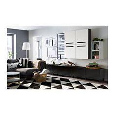 SILLERUP Teppich Kurzflor, schwarz/weiß - IKEA