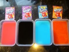 Kool-aid has great colors you can use to dye your dog.