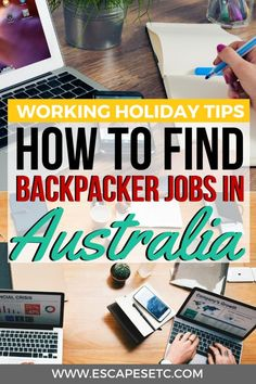 Are you traveling to Australia on a working holiday and want to find a job? How to find a job as a backpacker in Australia. Brisbane, Melbourne, Sydney, Working Holiday Visa, Working Holidays, Backpacking For Beginners, Backpacking Tips, Australia Travel Guide, Visit Australia