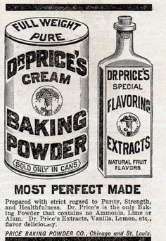 #Vintage #Advertising: Most Perfect Made - Dr. Price's Cream Baking Powder (1887)