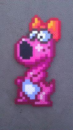 Birdo, Super Mario Bros 2 Perler Bead Sprite. $7.00, via Etsy.