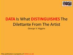 Data distinguishes - #Quotes #Tech #ODSI