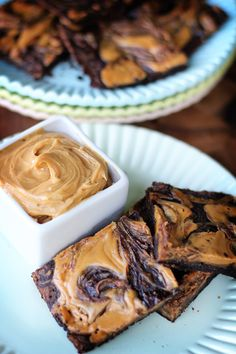 Peanut Butter Swirl Brownies - Weight Watchers Points Plus: 3 per brownie (with reduced fat peanut butter) or 4 per brownie (with regular peanut butter)