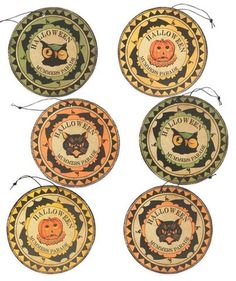 Mummer's Medallion Ornaments - Bethany Lowe Halloween