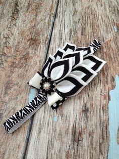 Zebra Felt Headband  Felt Dahlia Petals Zebra by KuggaKIDS on Etsy, $16.00