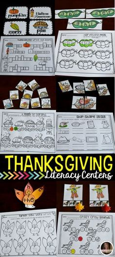 Thanksgiving Literacy Centers are perfect for the month of November in kindergarten.