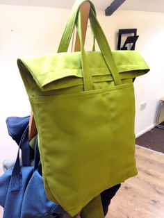 Unisex Tote bag with folded top