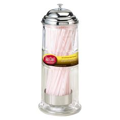 TableCraft Plastic Straw Dispenser, Clear