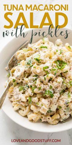 Easy Tuna Salad, Tuna Salad Pasta, Easy Pasta Salad Recipe, Healthy Salad Recipes, Healthy Food, Shrimp Pasta, Main Dish Salads, Dinner Salads, Dinner Dishes