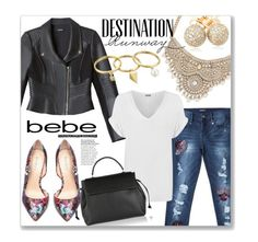 """""""Destination Runway with bebe : Contest Entry"""" by clovers-mind ❤ liked on Polyvore featuring Bebe, WearAll, Rebecca Minkoff, Lanvin, Loushelou and beiconic"""