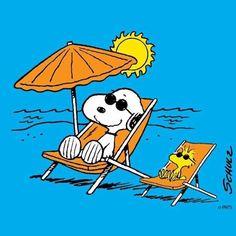 Queria tanto que hoje o meu dia fosse assim... #snoopy #woodstock #beach #peanuts