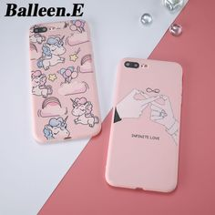 Balleen.E Phone Cases Luxury Unicorn Pig Smile Soft TPU Silicone Case For iPhone 7 6 6s Plus Back Cover Capa Coque For iphone 7
