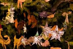 christmas tree decoration origami - Google Search