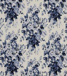 Home Decor Fabric-Robert Allen Beach Corsage Nautical Fabric $22.49