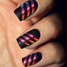 I'm getting black matte nail polish just for this!!! LOVE it!
