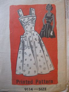 1940s vintage classic mailorder sundress pattern by dudeefinds,