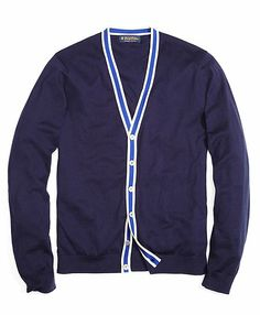 Nautica Tipped Cardigan - On sale at Brooks Brothers.