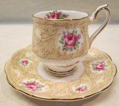 Royal Albert Devonshire Lace Tea Cup Saucer w Gold Fringe | eBay