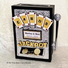 Las Vegas Wedding Card BoxSlot Machine by AlltheBestCardBoxes