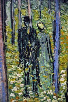 Vincent van Gogh (1853-1890) Undergrowth with Two Figures 1890 Cincinnati Art Museum (detail)
