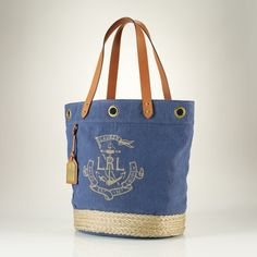 Nautical Canvas Jute Tote (This is PERFECT!  Getting this.)