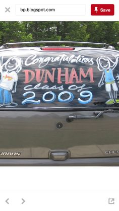 Senior Car Window Painting By Veronica Arreola Car Window Paint