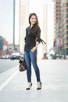 Casual Corset :: Silk blouse