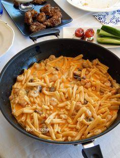 Ζυμαρικά με γαρίδες και μανιτάρια