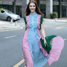 Women's Sleeveless Draped Mid Calf Dress
