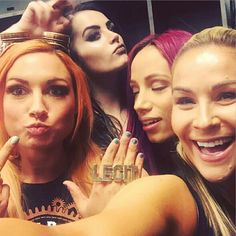 Natalya, Sasha Banks, Paige, Becky Lynch