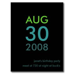 Customizable - Birthday invite - Simple Invitation Post Card in each seller  make purchase online for cheap. Choose the best price and best promotion as you thing Secure Checkout you can trust Buy bestHow to          Customizable - Birthday invite - Simple Invitation Post Card Onlin...