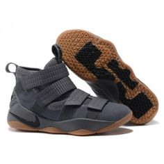 7ed411dcf3b Nike LeBron Soldier 11 Men s Grey Gum-Black 897646-003