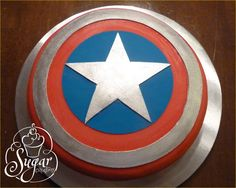 a quick Captain America cake for my youngest son's birthday sleepover Captain America Sheild, Captain America Party, 30th Birthday Cakes For Men, Sons Birthday, Birthday Ideas, Captain America Birthday Cake, Team Groom, Easy Cake Decorating, Superhero Cake