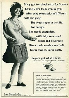 Sugar highs are good.
