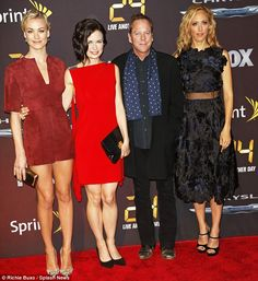 http://news-all-the-time.com/2014/05/03/kiefer-sutherland-flanked-by-ladies-in-red-mary-lynn-rajskub-and-yvonne-strahovski-at-24-live-another-day-premiere/ - Kiefer Sutherland flanked by ladies in red Mary Lynn Rajskub and Yvonne Strahovski at 24: Live Another Day premiere - By Iona Kirby It has been almost four years since the final episode of 24 aired. And Kiefer Sutherland showed that he still has that Jack Bauer charm at the world premiere of the revival in New York on