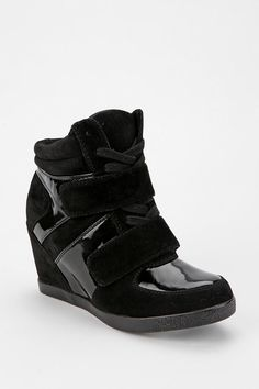 Wanted Mercer Patent Strap Wedge-Sneaker I've had these shoes for two years now, but they're worn out :(