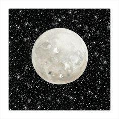 Moon 10 - Original Contemporary Watercolor Painting - Astronomy Art, Constellations - by Natasha Newton on Etsy, $138.56 CAD