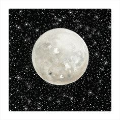 Moon 10 - Original Contemporary Watercolor Painting - Astronomy Art, Constellations - by Natasha Newton on Etsy, $138.56 CAD