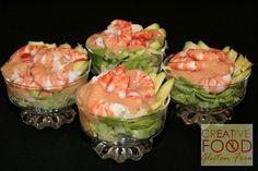 Shirmp & Avacado Cocktail Low Carb Recipes, Yummy Recipes, Vegetarian Recipes, Dessert Recipes, Cooking Recipes, Good Food, Yummy Food, Fresh Rolls, Seafood Recipes