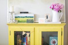 cheerful yellow armoire   Amanda Marie